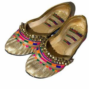 Indian Style gold shoes with bells 🔔